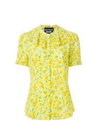 Blusa de manga corta estampada amarilla de Boutique Moschino