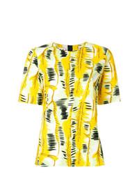 Blusa de manga corta estampada amarilla de Marni