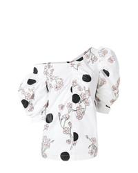 Blusa de manga corta estampada blanca de Isa Arfen