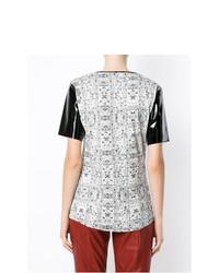 Blusa de manga corta estampada blanca de Tufi Duek