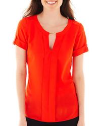Blusa de manga corta naranja