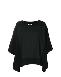 Blusa de manga corta negra de MM6 MAISON MARGIELA