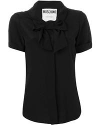 Blusa de manga corta negra de Moschino