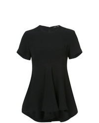 Blusa de manga corta negra de Proenza Schouler