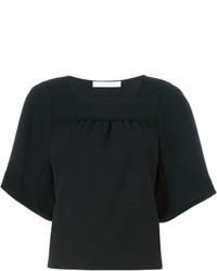 Blusa de manga corta negra de See by Chloe