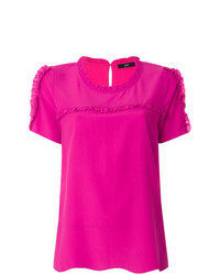 Blusa de manga corta rosa