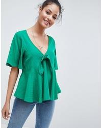 Blusa de manga corta verde de ASOS DESIGN
