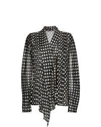 1d8e60a60e Comprar una blusa de manga larga a lunares negra  elegir blusas de ...