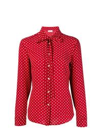 Blusa de manga larga a lunares roja de RED Valentino