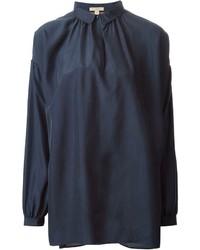 Blusa de manga larga azul marino de Burberry