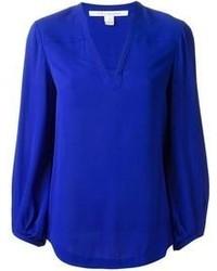 Blusa de manga larga azul original 10018407