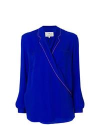 Blusa de manga larga azul de Maison Margiela