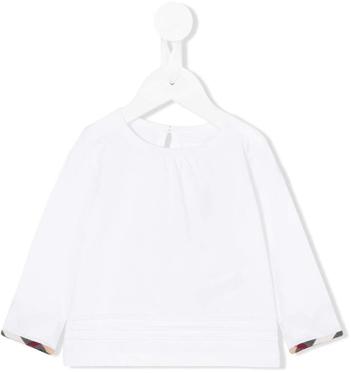 Blusa de manga larga blanca de Burberry