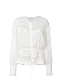 Blusa de manga larga blanca de IRO