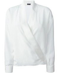 Blusa de manga larga blanca de Joseph