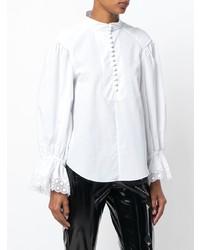 Blusa de manga larga blanca de Chloé