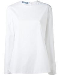 Blusa de manga larga blanca de Prada