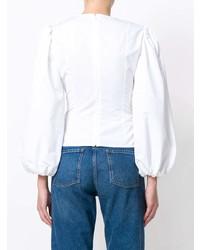 Blusa de manga larga blanca de Calvin Klein 205W39nyc