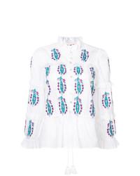 Blusa de manga larga bordada blanca de Figue