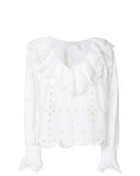 Blusa de manga larga bordada blanca de See by Chloe