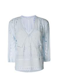 Blusa de manga larga bordada celeste de IRO