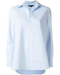 Blusa de manga larga celeste de Alexander Wang