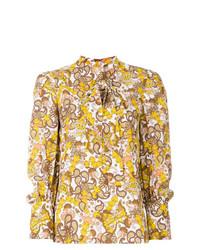 Blusa de manga larga con print de flores en multicolor de Chloé