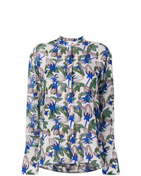 Blusa de manga larga con print de flores en multicolor de Christian Wijnants