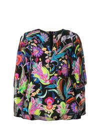 Blusa de manga larga con print de flores en multicolor de Etro
