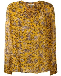 Blusa de manga larga con print de flores naranja de Etoile Isabel Marant