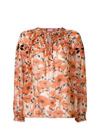 Blusa de manga larga con print de flores naranja de Giamba