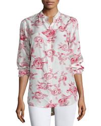 Blusa de manga larga con print de flores