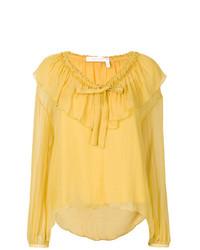 Blusa de manga larga con volante amarilla de See by Chloe