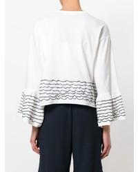 Blusa de manga larga con volante blanca de See by Chloe