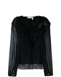 Blusa de manga larga con volante negra de See by Chloe