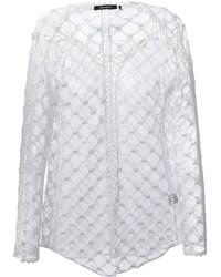 Blusa de manga larga de crochet blanca de Isabel Marant