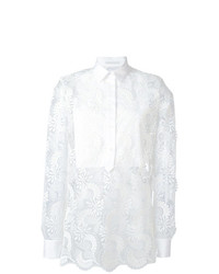 Blusa de manga larga de encaje blanca de Ermanno Scervino
