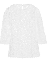 Blusa de manga larga de encaje blanca de Etoile Isabel Marant