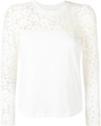Blusa de manga larga de encaje blanca de See by Chloe