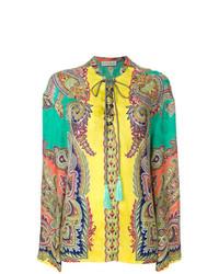 Blusa de manga larga de paisley en multicolor de Etro