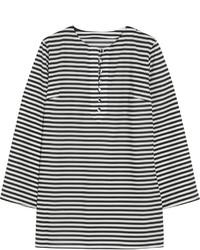 Blusa de manga larga de rayas horizontales en blanco y negro de Dolce & Gabbana