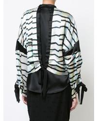 Blusa de manga larga de rayas horizontales en blanco y negro de Kimora Lee Simmons