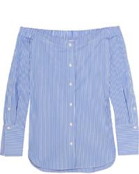 Blusa de manga larga de rayas verticales azul de Rag & Bone
