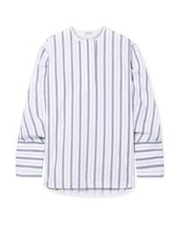 Blusa de manga larga de rayas verticales celeste de By Malene Birger