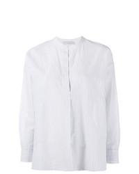 Blusa de manga larga de rayas verticales celeste de Vince