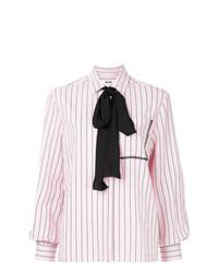 Blusa de manga larga de rayas verticales rosada de MSGM