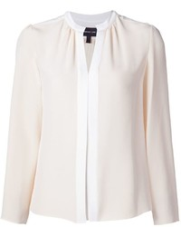 Blusa de manga larga de seda blanca de Derek Lam