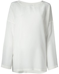 Blusa de manga larga de seda blanca de M Missoni