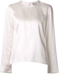 Blusa de manga larga de seda blanca de Maison Rabih Kayrouz