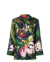 Blusa de manga larga de seda con print de flores en multicolor de F.R.S For Restless Sleepers